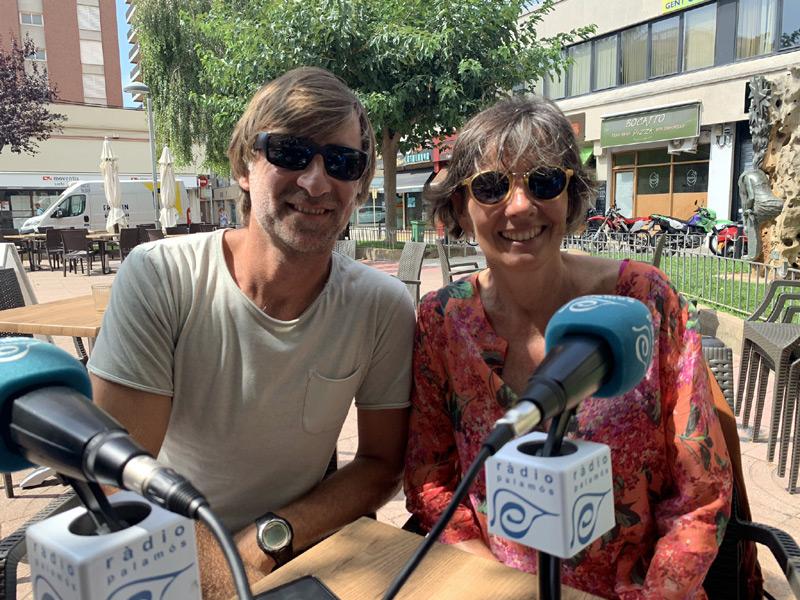 Lluís Martí i Isabel Ruiz, de l'Associació Amics de les Illes Formigues, divendres al programa