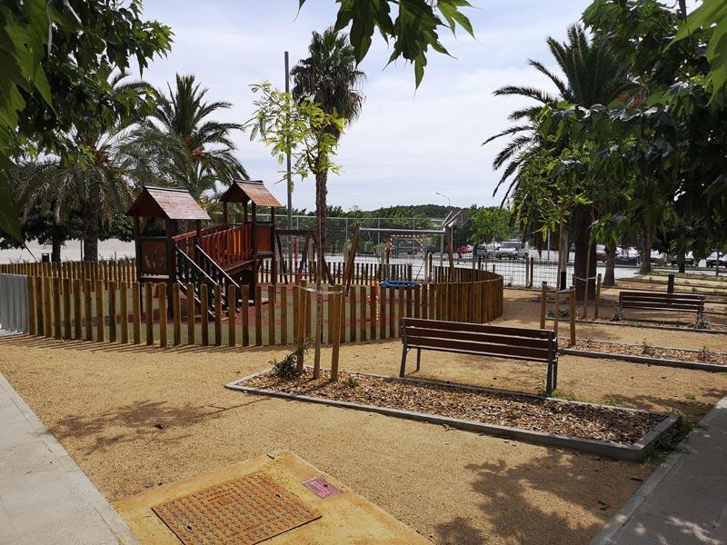La plaça de Vila-romà, al barri de Pla d'es Pla, ja reformada. (Foto: Ajuntament de Palamós).