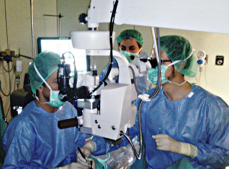 Quiròfan d'oftalmologia a l'hospital de Palamós, en una imatge d'arxiu. (Foto: SSIBE)