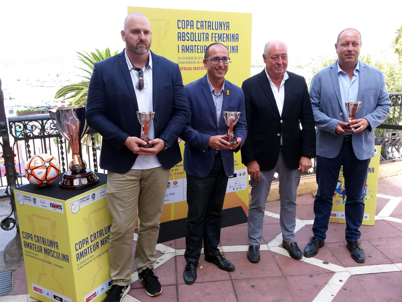 Acte de presentació de les fases finals de la Copa Catalunya a Palamós, fa uns dies. (Foto: Ajuntament de Palamós),