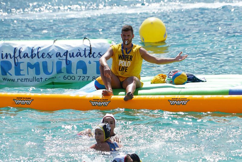 Imatge d'arxiu d'un partit del Beach Water Polo Costa Brava. (Foto: BIWPA)