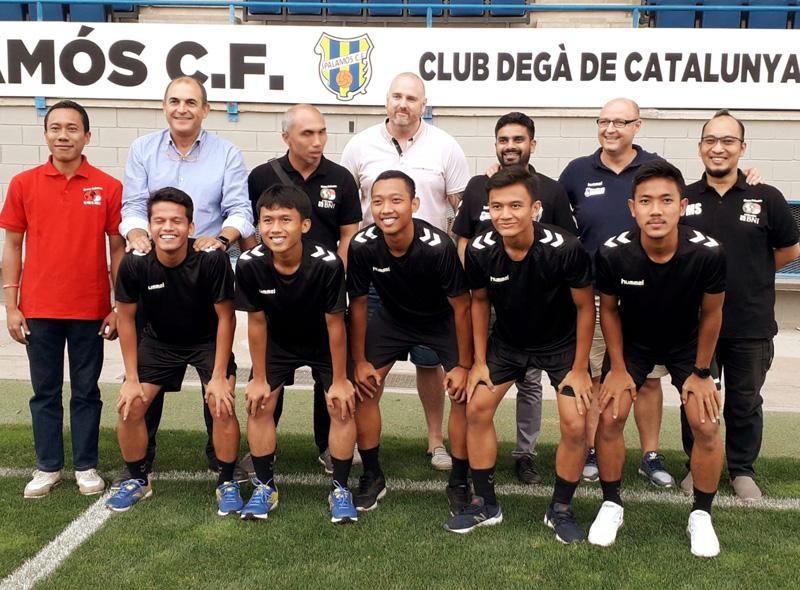 Jugadors de l'acadèmia Vamos Indonesia jugaran aquesta temporada en equips de la Fundació. (Foto: FE Palamós).