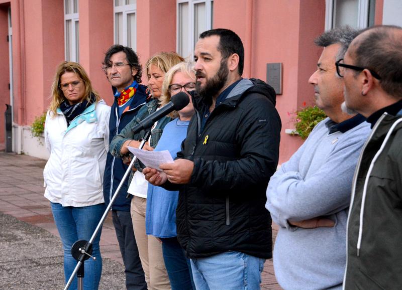 L'alcalde Miquel Bell-lloch, fent ahir el parlament. (Foto: Ajuntament de Calonge i Sant Antoni).