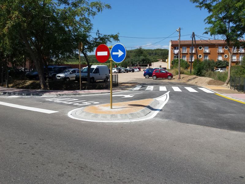L'aparcament del carrer de la Riera ja és accessible des del carrer d'Àngel Guimerà (Foto: Ajuntament de Palamós).