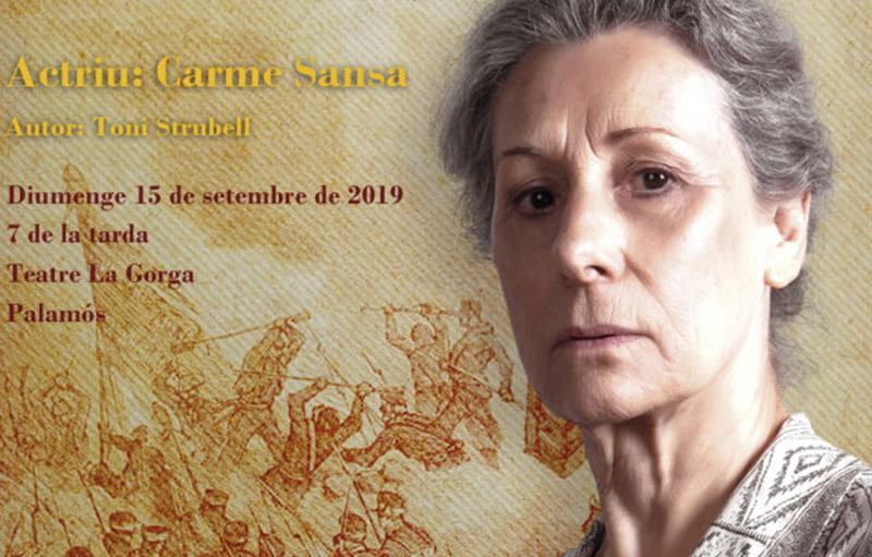 Carme Sansa, protagonista de l'obra 'Isabel Cinc Hores al Foc de La Bisbal'.