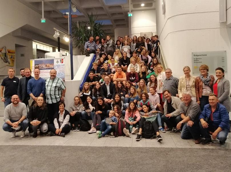 La delegació palamosina i representants de la ciutat agermanada, la setmana passada a Rheda-Wiedenbrück,