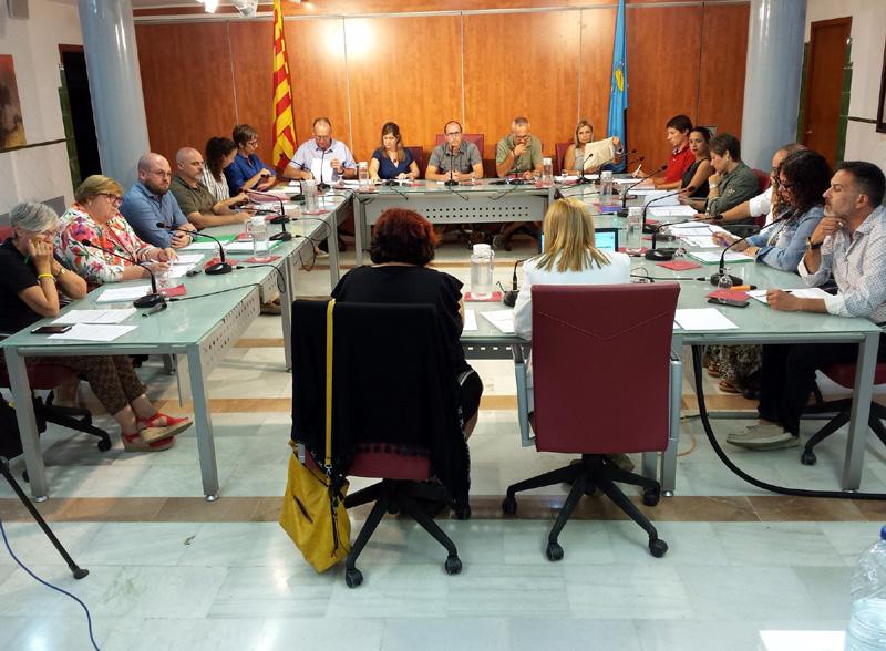 Imatge del Ple de l'Ajuntament de Palamós celebrat ahir. (Foto: Ajuntament de Palamós).