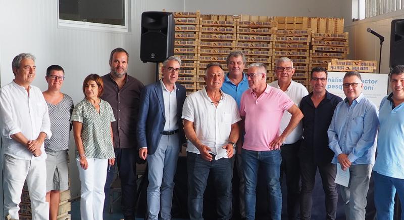 Representants de les confraries amb el Director General de Pesca de la Generalitat.