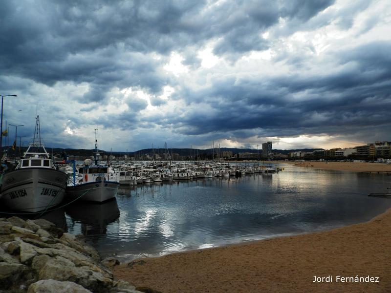 Palamós, després d'una tempesta el passat 27 de juliol. (Foto: tempspalamos.blogspot.com).