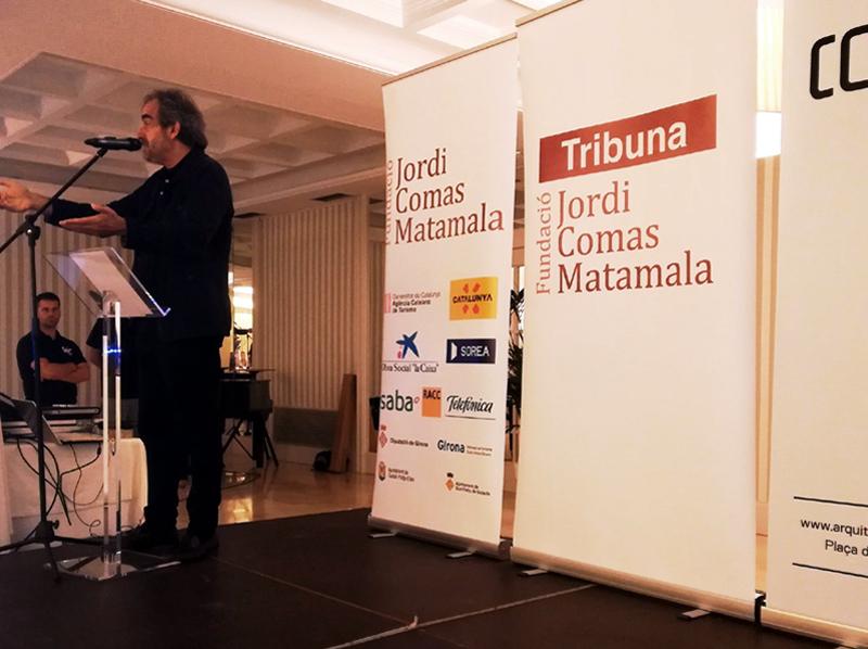 El fòrum de debat va comptar com a ponent amb l'arquietecte Carles Llop. (Foto: Fundació Jordi Comas).