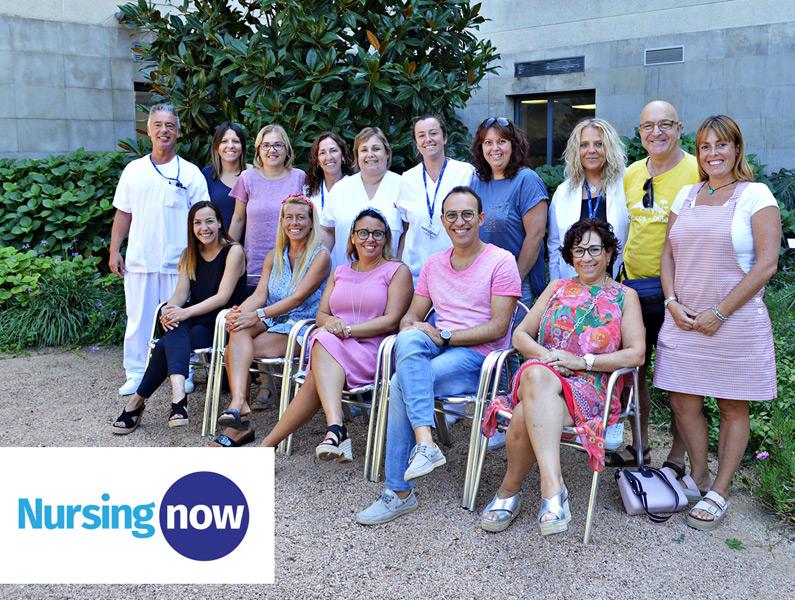 Grup de treball de SSIBE per la campanya Nursing Now. (Foto: SSIBE).