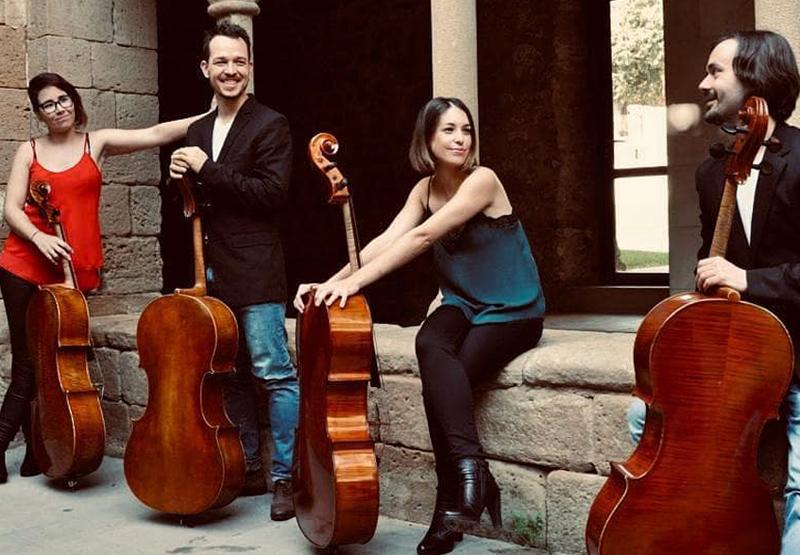La formació Northern Cellos versionarà temes pop amb violoncel, aquest diumenge al castell de Sant Esteve. (Foto: Northern Cellos).