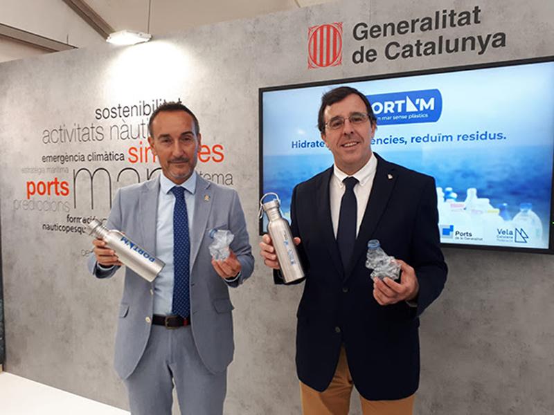 El gerent de Ports, Joan Pere Gómez, i el president de la Federació Catalana de Vela, Xavier Torres. (Foto: Ports de la Generalitat).