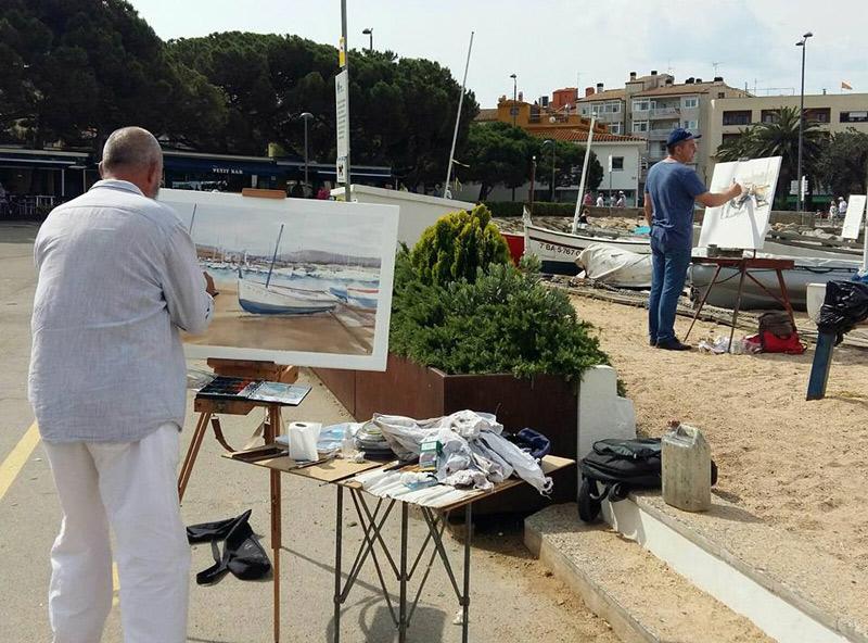Una de les activitats de dissabte serà una mostra de pintura a l'aire lliure, a la platja. (Foto: Cercle Artístic de Palamós).