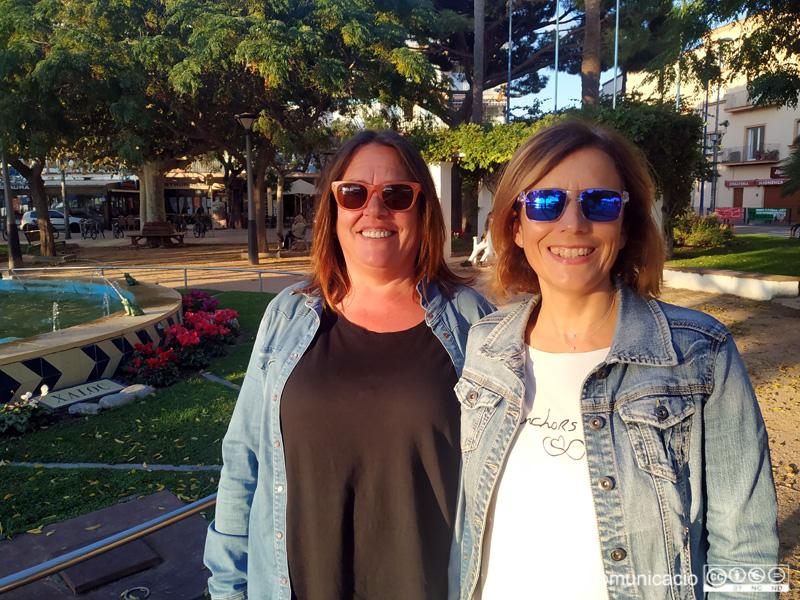 Rosa Esteve i Mònica Agustí, responsables de l'Associació Dones de Palamós.