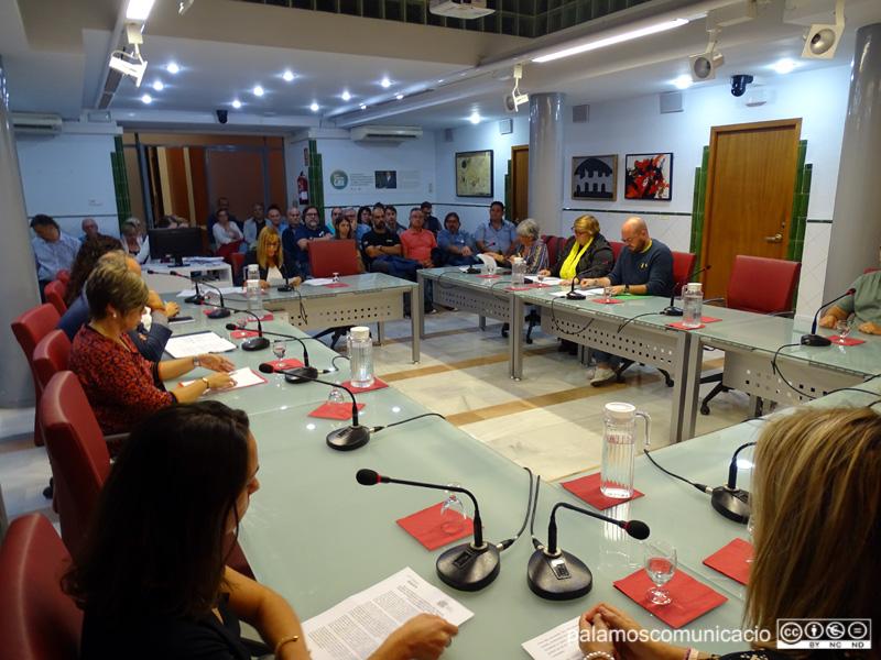 Una vintena de persones van omplir la sala de plens de l'Ajuntament de Palamós.