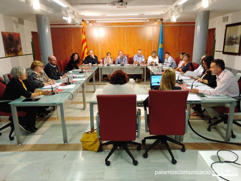 El Ple de l'Ajuntament de Palamós, reunit ahir al vespre.