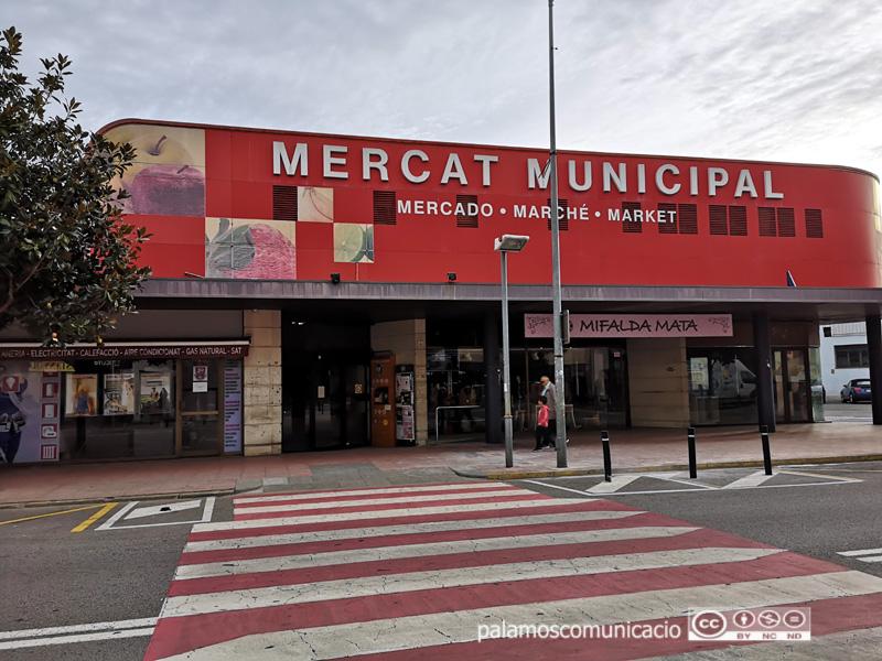 El Mercat Municipal de Palamós ha tancat avui les seves portes, amb motiu de la vaga.