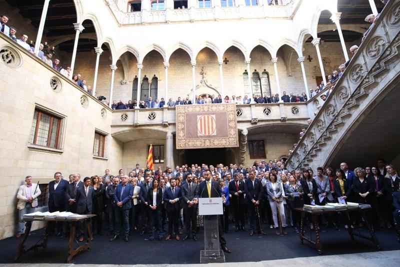 L'acte es va fer a la Galeria Gòtica del Palau de la Generalitat. (Foto: AMI).