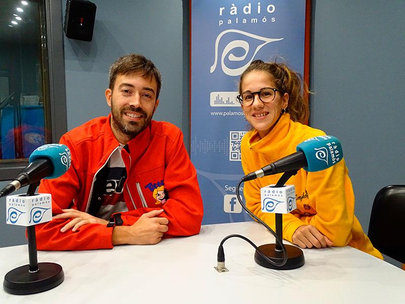 Xavi Casanovas i Eli Fernández, dels 'Txondos' i 'Les Nimfes', al programa 'Tal com som'.