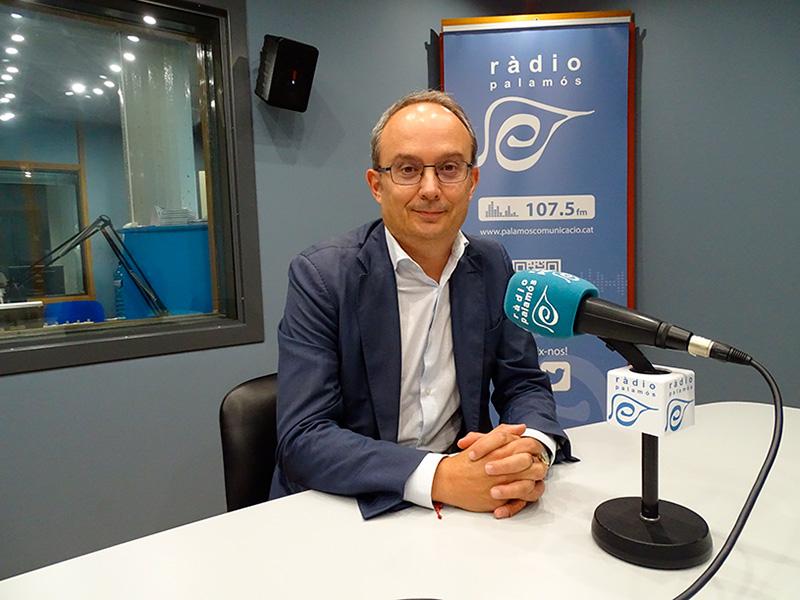 El regidor socialista Josep Coll, ahir a l'espai 'Preguntes'.