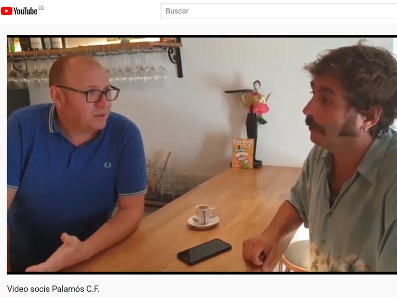 Fotograma del vídeo del Palamós a la xarxa Youtube.