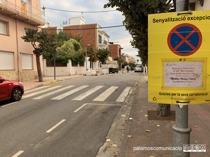 El carrer Ample, un dels afectats per la neteja d'aquest