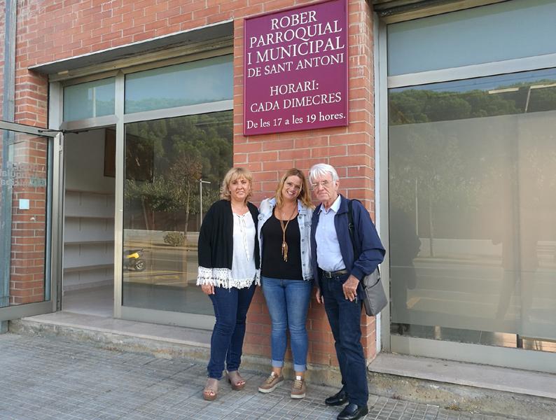 Representants de Vimar i de l'Ajuntament de Calonge, durant la visita al rober. (Foto: Ajuntament de Calonge i Sant Antoni).