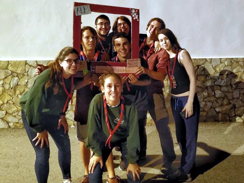 Integrants de l'Agrupament Escolta i Guia Palamosí. (Foto: AEIG Palamosí).