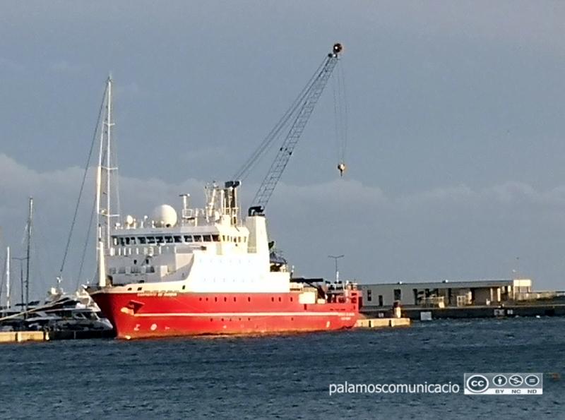 El Sarmiento de Gamboa, ahir al port de Palamós.