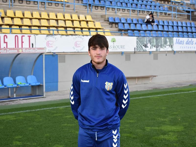 El jove davanter del Palamós, Xevi Germán. (Foto: S. Cortés fanspalamoscf.com).