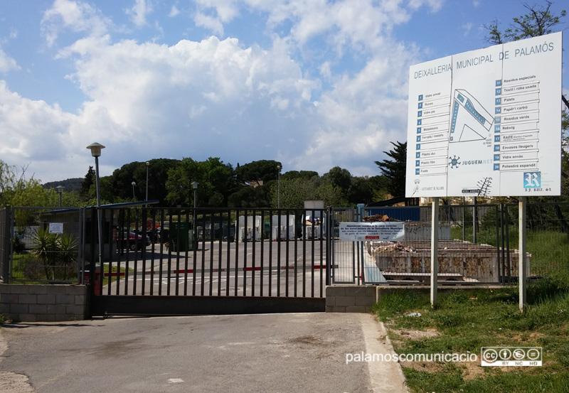La deixalleria municipal de Palamós.