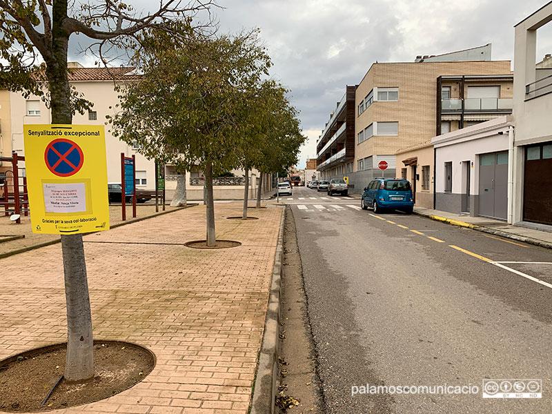 El tram del carrer de Santa Marta on es farà demà el 'Fem dissabte'.