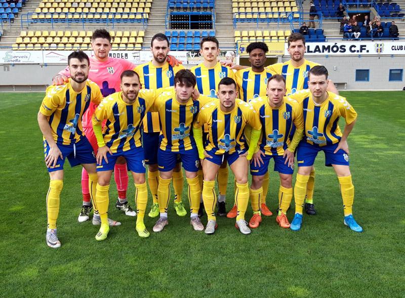 Alineació del Palamós CF en l'últim partit de lliga. (Foto: Palamós CF).