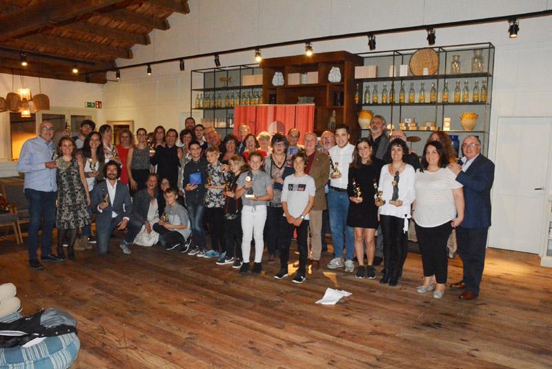 Els premiats de la primera edició del Concurs de Teatre Amateur Arturo Mundet. (Foto: Ajuntament de Calonge i Sant Antoni).