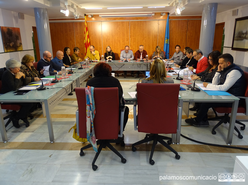 Imatge del Ple Municipal celebrat ahir.