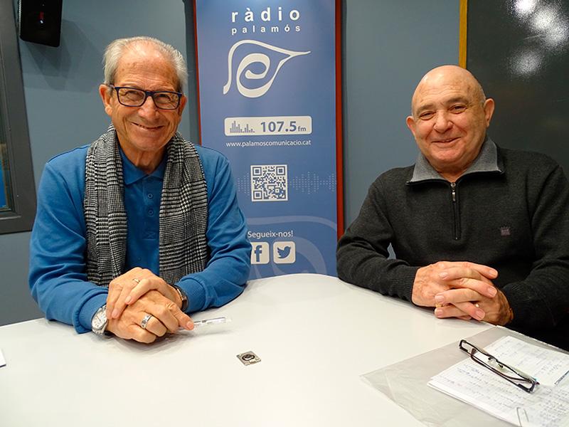 Francesc Magan i Jaume Sirvent, de l'Associació de la Gent Gran de Palamós.