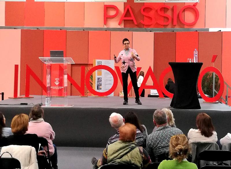 Carme Ruscalleda, avui al Congrés d'Emprenedoria. (Foto: Ajuntament de Calonge i Sant Antoni).