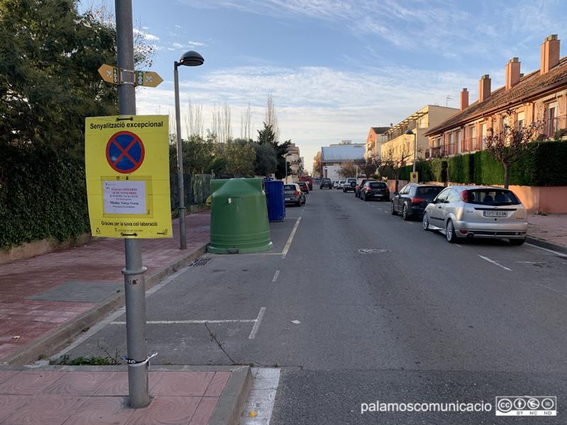 El carrer de Provença, senyalitzat pel 'Fem dissabte' de demà.