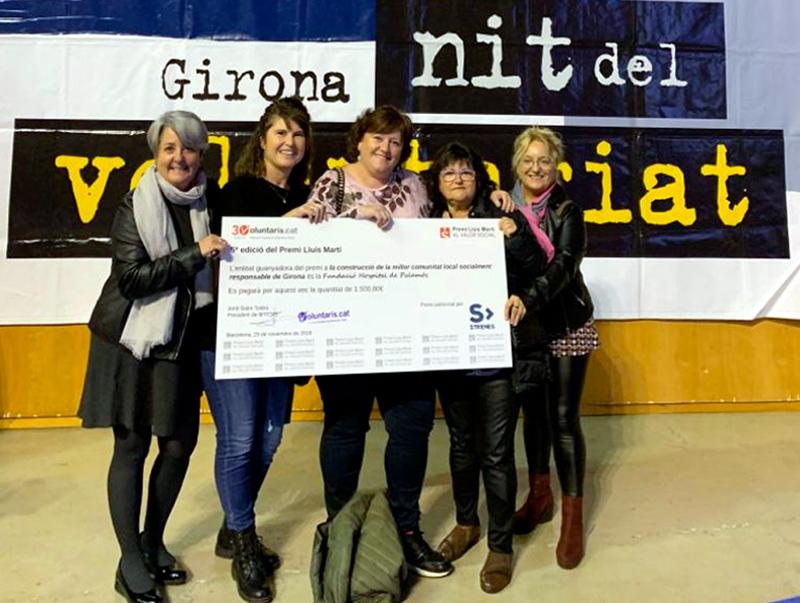L'hospital de Palamós, distingit en els premis de la Nit del Voluntariat. (Foto: SSIBE).