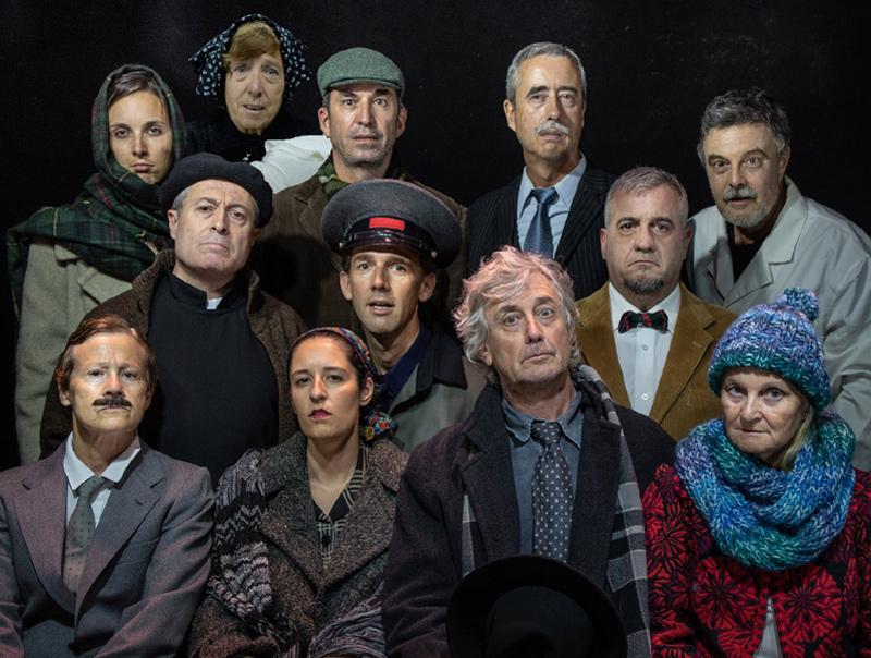 El repartiment de 'L'art de la comèdia'. (Foto: lagorga.cat).