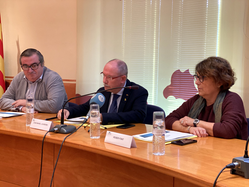 Presentació del pressupost del Consell Comarcal. (Foto: Consell Comarcal del Baix Empordà).