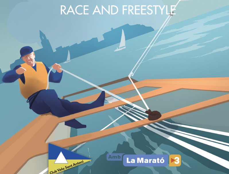 Cartell de la XIII International Guido Depoorter Cup. (Foto: Club de Vela Sant Antoni).