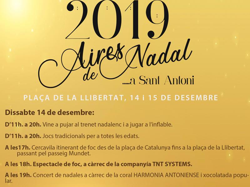 Programació de l'activitat 'Aires de Nadal' per demà dissabte. (Foto: Ajuntament de Calonge i Sant Antoni).
