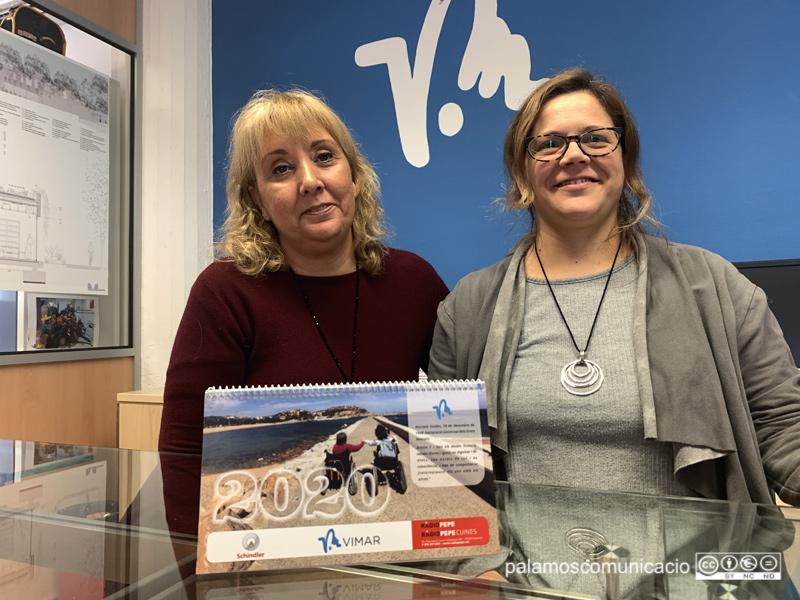 Maribel Duaso i Cristina Garcia, directora administrativa i treballadora social, respectivament, de la Fundació Vimar.
