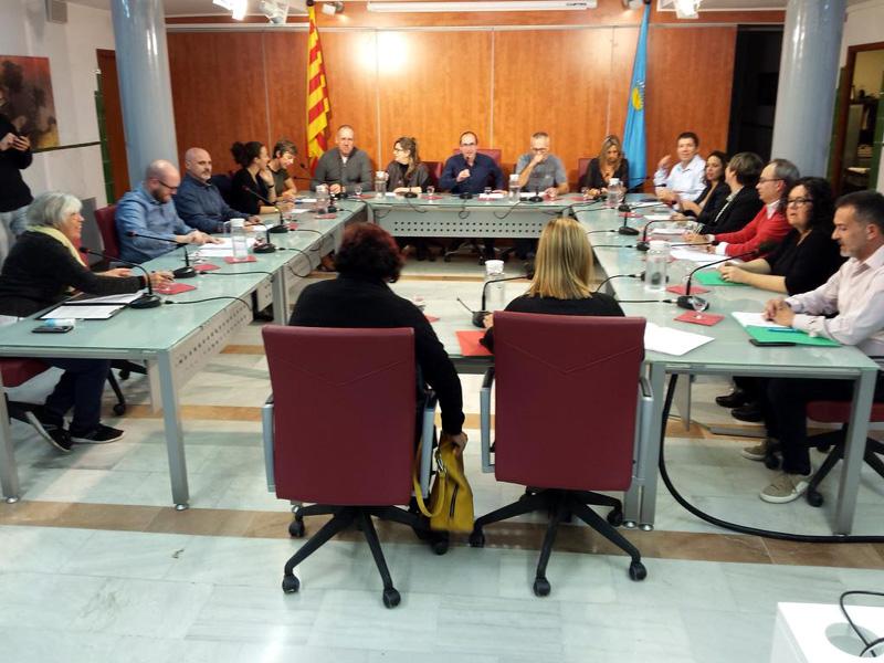 Ple de l'Ajuntament de Palamós celebrat ahir.
