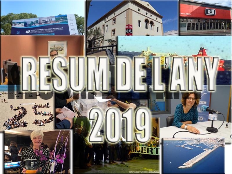 Demà us oferirem el resum informatiu de l'any 2019 a Palamós.