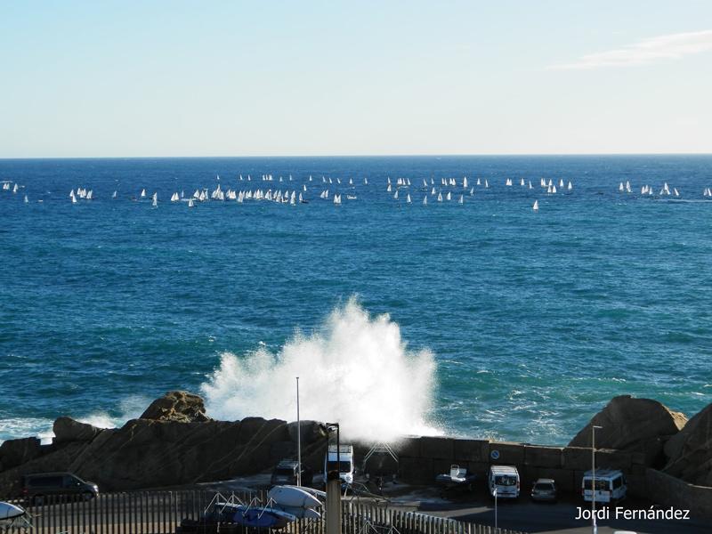 Cop de mar, el passat diumenge. (Foto: J. Fernández tempspalamos.blogspot.com).