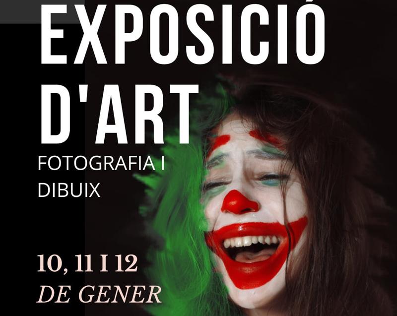 Cartell de l'exposició d'art jove. (Foto: Ajuntament de Calonge i Sant Antoni).