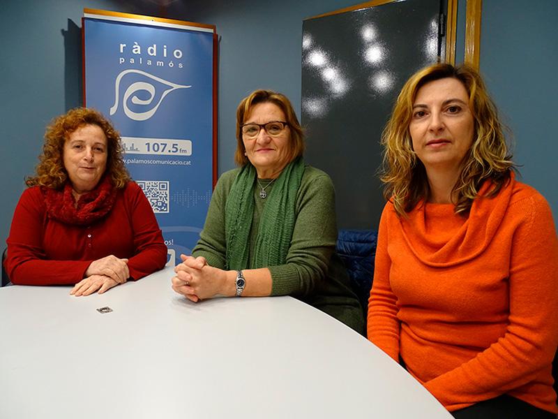 Carmen Gutiérrez, Lali Murillo i Nuri Pérez, de l'ACAF, a l'espai 'Tal com som'.